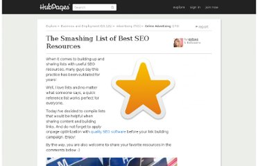 http://gotseo.hubpages.com/hub/List-of-SEO-Resources