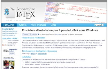 http://www.apprendre-latex.images-en-france.fr/installer-latex-windows.html