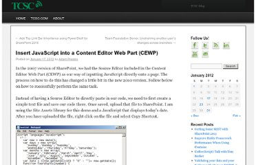 http://www.tcscblog.com/2012/01/17/insert-javascript-into-a-content-editor-web-part-cewp/