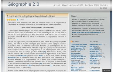 http://geographie2point0.wordpress.com/2010/03/26/a-quoi-sert-la-neogeographie-introduction/