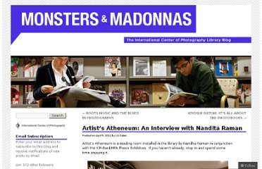 http://icplibrary.wordpress.com/2012/04/09/artists-atheneum-an-interview-with-nandita-raman/