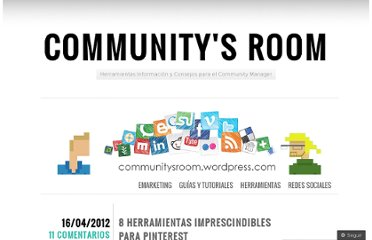 http://communitysroom.wordpress.com/2012/04/16/8-herramientas-imprescindibles-para-pinterest/