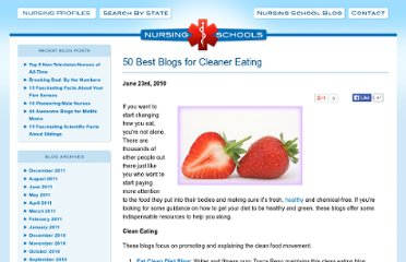 http://www.nursingschools.net/blog/2010/06/50-best-blogs-for-cleaner-eating/