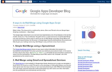 http://googleappsdeveloper.blogspot.com/2011/10/4-ways-to-do-mail-merge-using-google.html