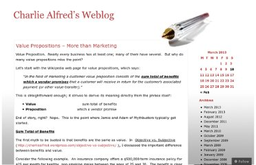 http://charliealfred.wordpress.com/value-propositions-more-than-marketing/