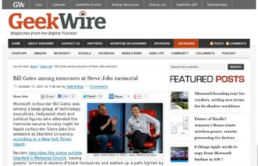 http://www.geekwire.com/2011/bill-gates-mourners-steve-jobs-memorial/