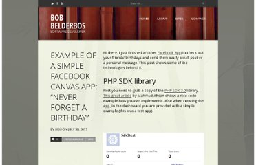 http://bobbelderbos.com/2011/07/example-simple-facebook-canvasapp-never-forget-a-birthday/