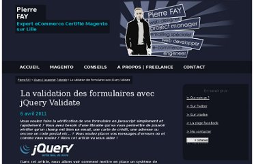 http://www.pierrefay.fr/jquery-validate-formulaire-validation-tutoriel-455