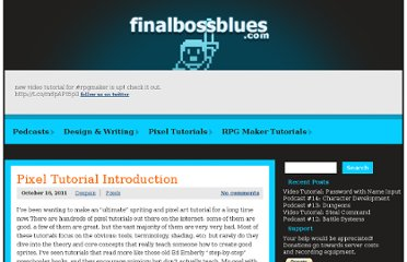 http://finalbossblues.com/pixel-tutorial-introduction/