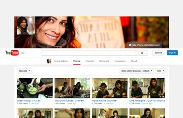 http://www.youtube.com/user/nishakatona/videos