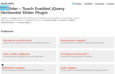 http://iosscripts.com/iosslider-jquery-horizontal-slider-for-iphone-ipad-safari/