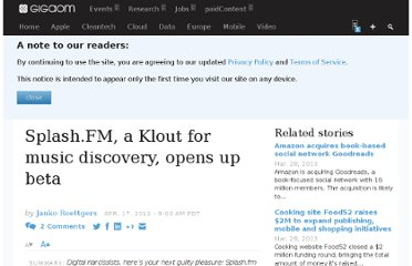 http://gigaom.com/2012/04/17/splashfm-klout-for-music/