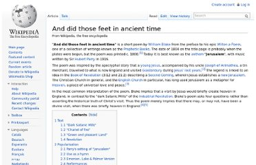 http://en.wikipedia.org/wiki/And_did_those_feet_in_ancient_time