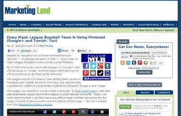 http://marketingland.com/every-major-league-baseball-team-is-using-pinterest-google-and-tumblr-too-10074
