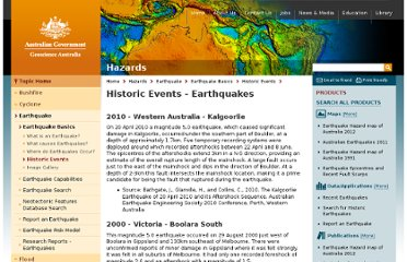 http://www.ga.gov.au/hazards/earthquakes/earthquake-basics/historic.html