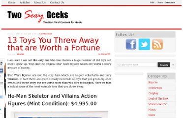 http://www.twosexygeeks.com/13-toys-you-threw-away-that-are-worth-a-fortune/