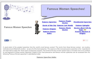 http://www.famousquotes.me.uk/speeches/Famous-Women-Speeches/index.htm