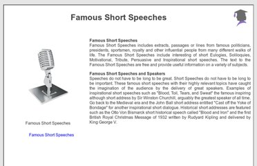 http://www.famous-speeches-and-speech-topics.info/famous-short-speeches/