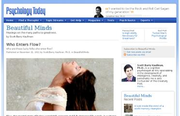 http://www.psychologytoday.com/blog/beautiful-minds/201111/who-enters-flow