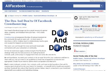 http://allfacebook.com/the-dos-and-don%e2%80%99ts-of-facebook-crowdsourcing_b54056