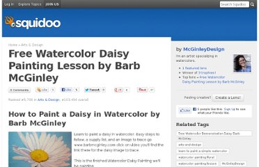 http://www.squidoo.com/WatercolorPaintingDaisy