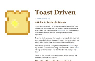 http://toastdriven.com/blog/2011/apr/10/guide-to-testing-in-django/