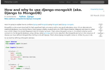 http://www.peterbe.com/plog/how-and-why-to-use-django-mongokit