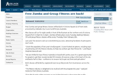 http://www.adelaidecitycouncil.com/council/media-centre/media-releases/free-zumba-and-group-fitness-are-back/