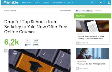 http://mashable.com/2012/04/18/drop-in-top-schools-from-berkeley-to-yale-now-offer-free-online-courses/