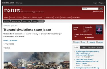 http://www.nature.com/news/tsunami-simulations-scare-japan-1.10460