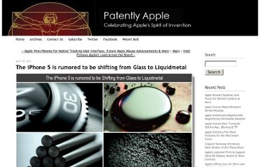 http://www.patentlyapple.com/patently-apple/2012/04/the-iphone-5-is-rumored-to-be-shifting-from-glass-to-liquidmetal.html