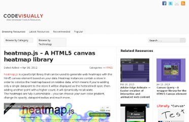 http://codevisually.com/heatmap-js-a-html5-canvas-heatmap-library/