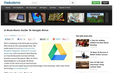 http://edudemic.com/2012/04/a-must-have-guide-to-google-drive/