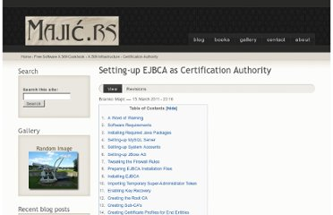 http://majic.rs/book/free-software-x509-cookbook/setting-up-ejbca-as-certification-authority