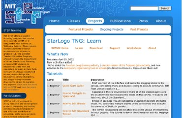 http://education.mit.edu/projects/starlogo-tng/learn