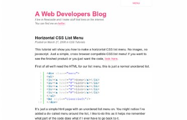 http://jamesowers.co.uk/css-tutorials/50/horizontal-css-list-menu/