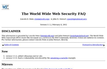 http://www.w3.org/Security/faq/