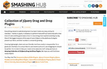 http://smashinghub.com/collection-of-jquery-drag-and-drop-plugins.htm