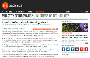 http://arstechnica.com/business/news/2012/04/tumblr-to-launch-ads-on-site-starting-may-2.ars
