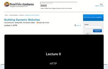 http://freevideolectures.com/Course/2331/Building-Dynamic-Websites#