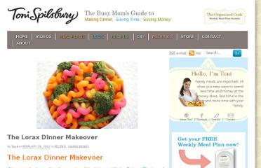 http://tonispilsbury.com/the-lorax-dinner-makeover/