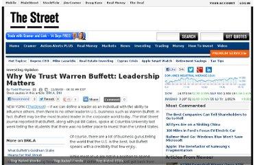 warren buffett leadership essay