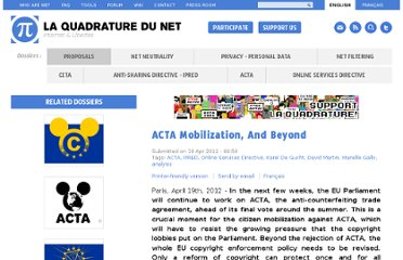 http://www.laquadrature.net/en/acta-mobilization-and-beyond