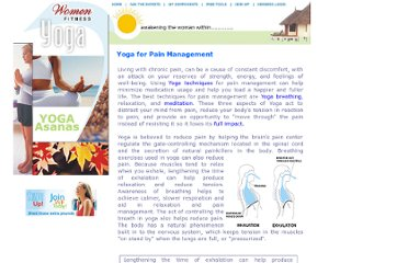 http://www.womenfitness.net/yoga_pain_management.htm
