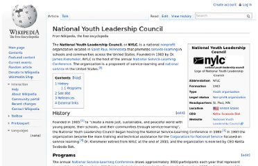 http://en.wikipedia.org/wiki/National_Youth_Leadership_Council