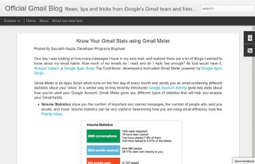 http://gmailblog.blogspot.com/2012/04/know-your-gmail-stats-using-gmail-meter.html
