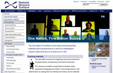 http://www.nms.ac.uk/learning/communities/past_projects/one_nation_five_million_voices.aspx