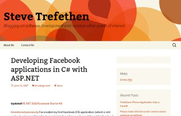 http://www.stevetrefethen.com/blog/DevelopingFacebookapplicationsinCwithASPNET.aspx