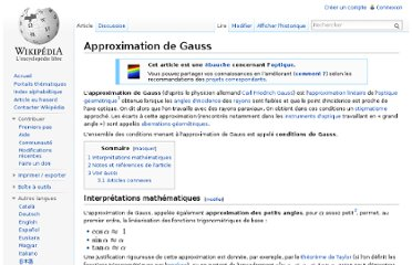 http://fr.wikipedia.org/wiki/Approximation_de_Gauss