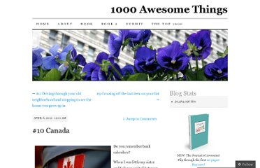 http://1000awesomethings.com/2012/04/06/10-canada/